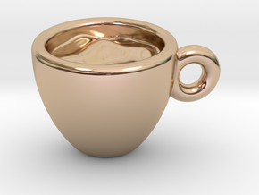 Coffee Cup Little Earring in 14k Rose Gold Plated