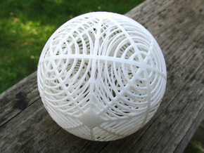 Moiré Sphere in White Strong & Flexible