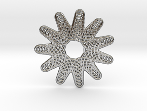 0574 Triple Rotation Of Points (5 cm) #006 in Premium Silver