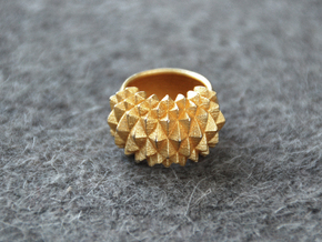 Ring Studs Bolder in Matte Gold Steel