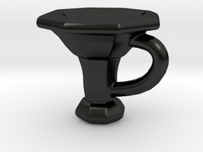 Tuba Mug in Matte Black Porcelain