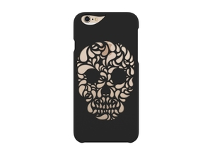 iPhone 6_Funky Skull in Black Strong & Flexible