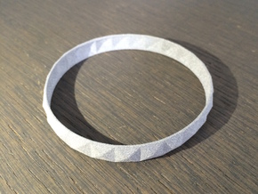 Pyramid Beveled Bangle (Hollow) in Polished Metallic Plastic