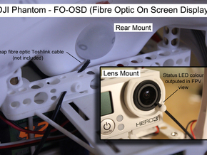 DJI Phantom FO-OSD (Fibre Optic OSD) - d3wey in White Strong & Flexible