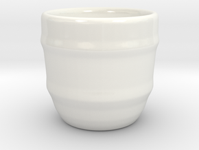 Design Cup for Coffee or else will keep the Coffee in Gloss White Porcelain