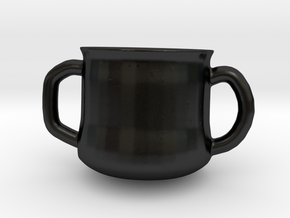 Mug For Two in Matte Black Porcelain