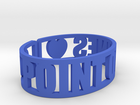 Point O'Pines Cuff in Blue Strong & Flexible Polished