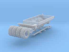 1/64 Grain Cart 2 axle with wheels and tires in Frosted Ultra Detail