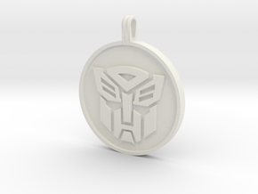 Transformer Pendant in White Strong & Flexible