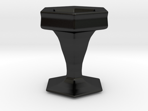 3D Printable Grail in Matte Black Porcelain