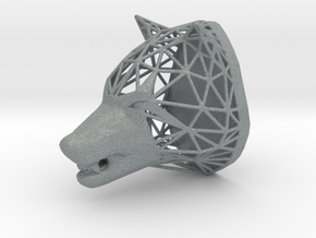 Wolf Trophy Wireframe 80mm in Polished Metallic Plastic