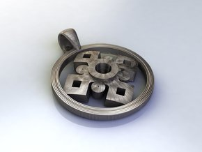 Pendant, Forces of Nature  in Stainless Steel