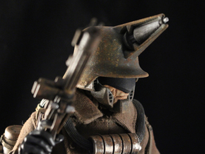 """""""Psychici Stahlhelm"""" custom 1:6th scale head in White Strong & Flexible"""