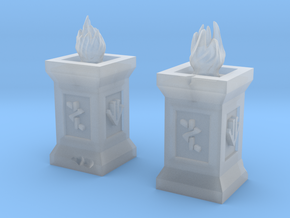 Dwarf Torches (Pair) in Frosted Extreme Detail