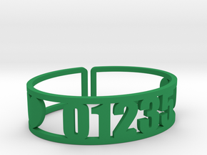 Taconic Zip Cuff in Green Strong & Flexible Polished