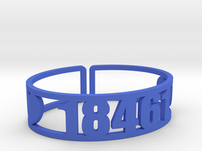 Starlight Zip Cuff in Blue Strong & Flexible Polished
