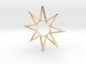Sun Pendant in 14k Gold Plated