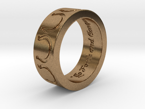 """Go Forth and Conquer"" Ring Size 10 in Raw Brass"