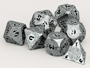 Daedalus Dice set in Stainless Steel