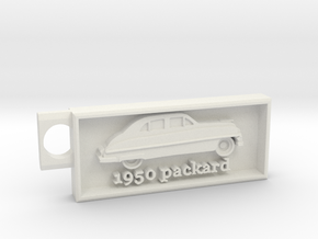 1950 Packard Key chain in White Strong & Flexible