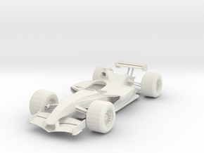 Race Car in White Strong & Flexible