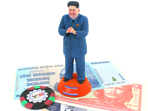 Glorious Kim Jong Un Statue in Full Color Sandstone