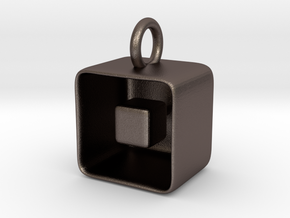 Levitation Cube Pendant in Stainless Steel