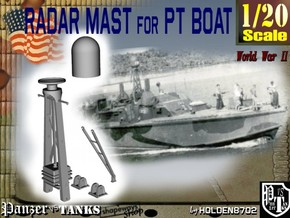 1-20 Radar Mast For PT BOAT in White Strong & Flexible Polished