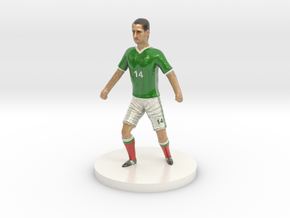 Mexican Football Player in Coated Full Color Sandstone