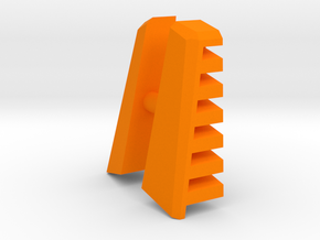 M.A.S.K. Gator Speedboat Air Intake Fins in Orange Strong & Flexible Polished