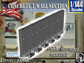 1-144 Concrete T-Wall Section Set in White Strong & Flexible