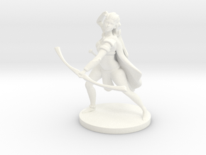 Pathfinder / D&D Female Forest Elf Ranger in White Strong & Flexible Polished