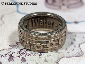 Ring - Serenade of Water (Size 13) in Stainless Steel