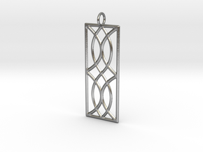 Sconce Pendant in Raw Silver