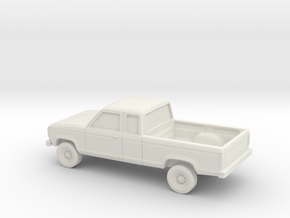 1/64 1983-88 Ford Ranger Ext Cab in White Strong & Flexible