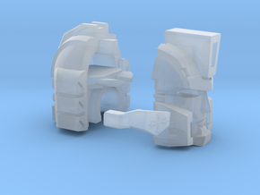 Scientist Sharpshooter Head with Scope in Frosted Ultra Detail
