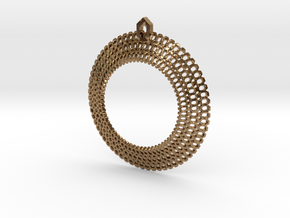 Crochet Pendant (precious metals) in Raw Brass