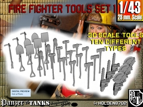1-43 Firemen Tools Set 1 in Frosted Ultra Detail