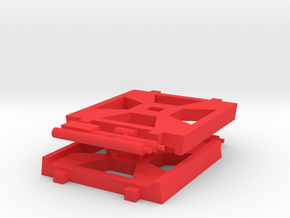 W-Wing Gaming Base (Small), 2 Bases in Red Strong & Flexible Polished