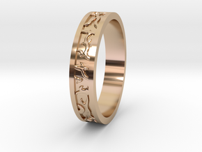 Ring of the Sun Princess, Size 6.5 in 14k Rose Gold Plated