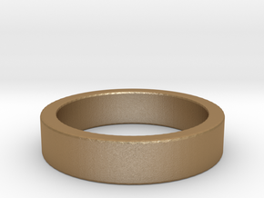 Basic Ring US9 in Matte Gold Steel