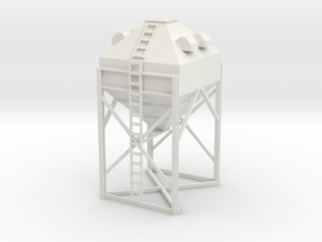 1/64 Overhead Feed Hopper Small in White Strong & Flexible