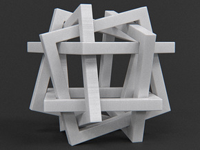 Orderly Tangle 01 - Six Hollow Squares in White Strong & Flexible Polished