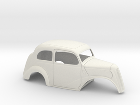 1/8 1949 Anglia No Fr Fenders in White Strong & Flexible