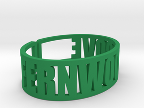 Fernwood Cove Cuff in Green Strong & Flexible Polished