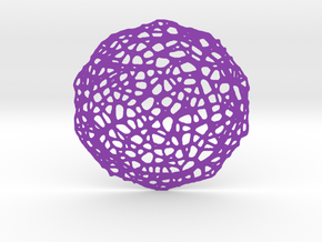 Coaster - Voronoi #7 (13 cm) in Purple Strong & Flexible Polished