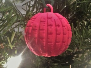 VGA Cast Ball Ornament in Red Strong & Flexible Polished