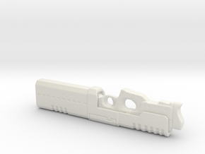Railgun 1/6th Scale Folded - 5.5inches long in White Strong & Flexible