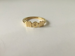 Mom Wow Ring in 18k Gold Plated