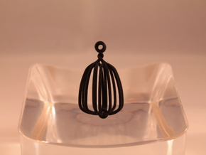 Crystal therapy cage - one pivot in Black Strong & Flexible